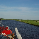 Die EXODUS auf dem Hadelner Kanal