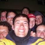 Gruppenfoto vor dem Lassaner Rathaus